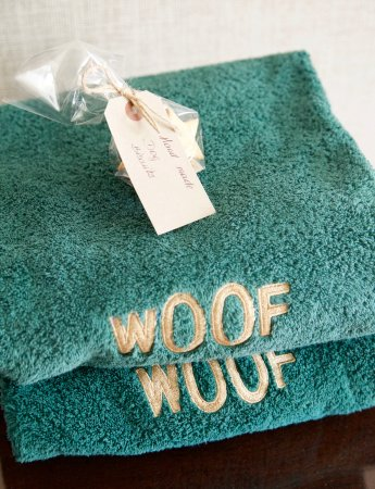 Summer Lodge: Dog towels provided (and treats)
