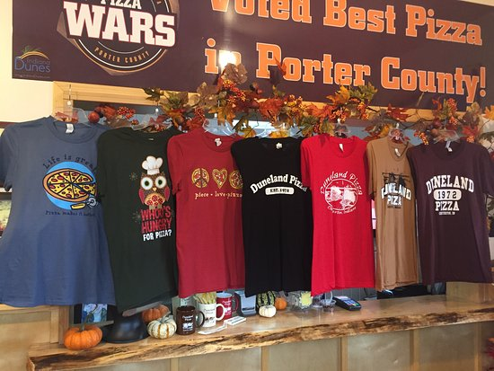 Chesterton, IN: We offer a large assortment of Duneland Pizza shirts and hoodies