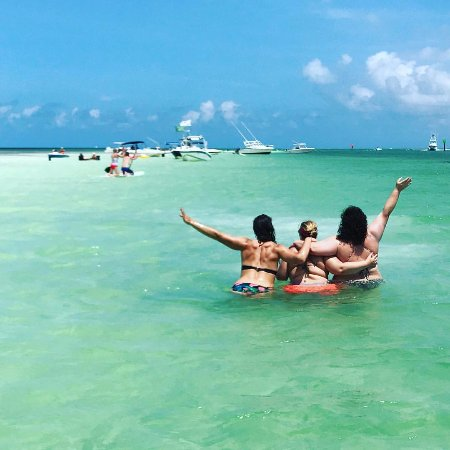 Tavernier, FL: KS girls enjoying the sun and sandbar