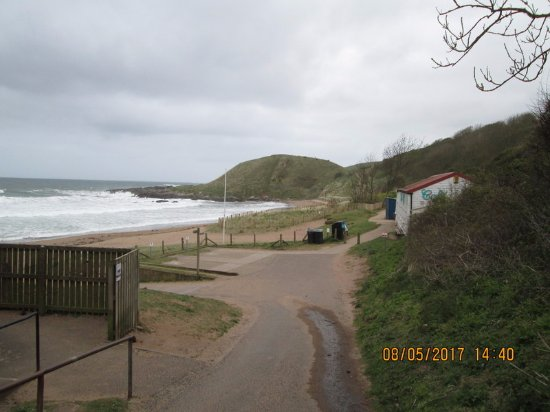 Coldingham, UK: cafe on the right