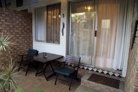 Bhangazi Lodge: unsere kleine Terrasse