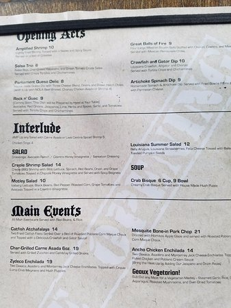 The Colony, TX: VIP Patio seating menu - 1/2
