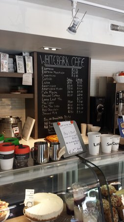 Whitebark Cafe : Menu