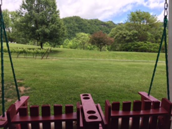 Lovingston, VA: Another beautiful view from the new pond swing!
