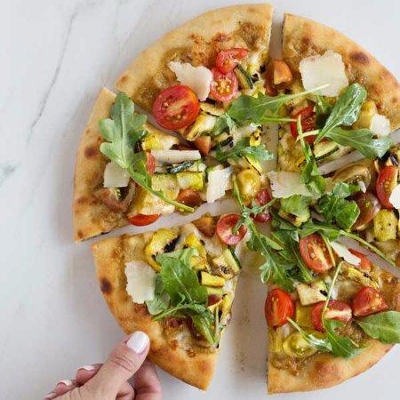 Dobbs Ferry, NY: Grilled Veggie Pizza