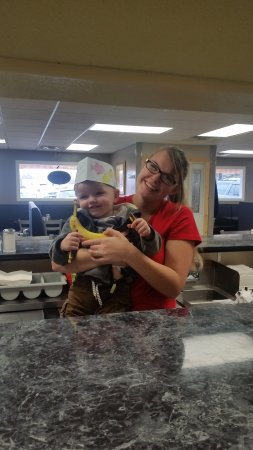 Weaverville, NC: One of our servers and her little man