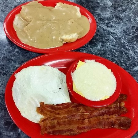 Weaverville, NC: Eggs, Bacon, Grits, and 2 Biscuits and Gravy