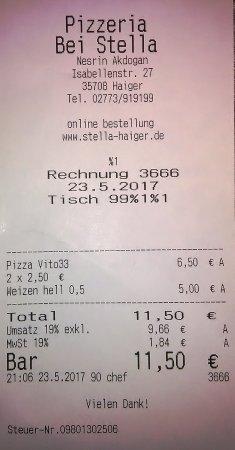 Haiger, Германия: Günstige Rechnung