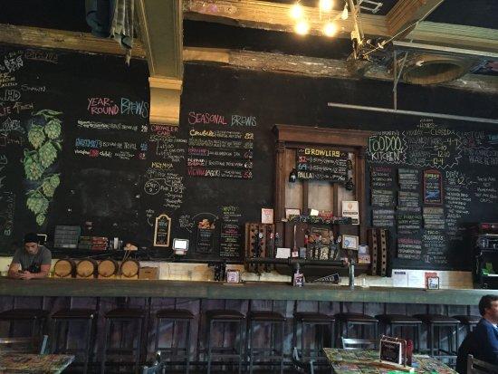 Robinson, Pensilvania: the menu is on the wall