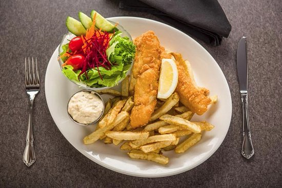 Nelson Brewing Co. Beer-Battered Halibut & Home-Cut Fries