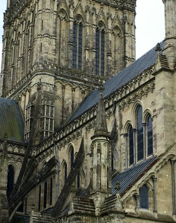 Flying Buttresses Exterior Salisbury Cathedral