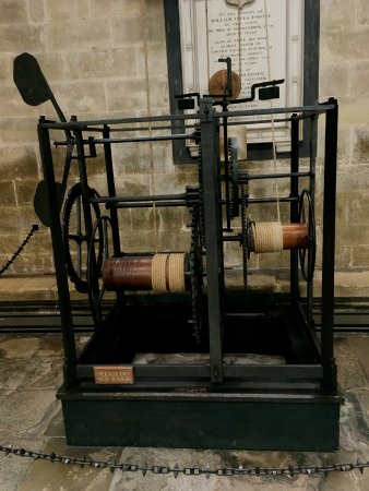 The oldest working clock at Salisbury Cathedral