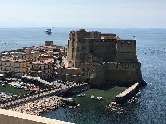 Castel dell'Ovo : the castle (from our balcony)