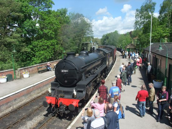 Steam train waiting to leave from Pickering