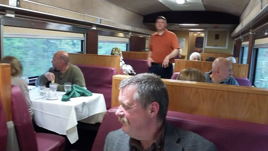 Spooner, WI: Frank the waiter in the dining car