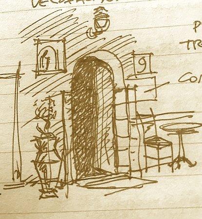 Tusa, Italia: schizzo dell'ingresso senza insegna