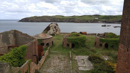 Anglesey Walking Holidays - Day Tours: Abandoned brickworks at Porth Wen.