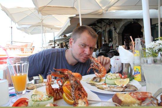 Zefyros Family Fish Taverna: Креветка