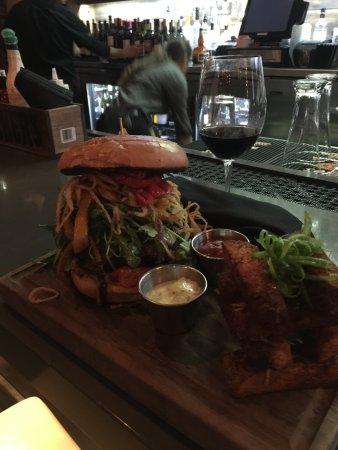 Campbell, CA: yummy, huge steak burger