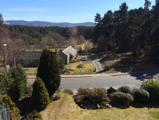 Grantown-on-Spey, UK: View from rooms at the front of the house