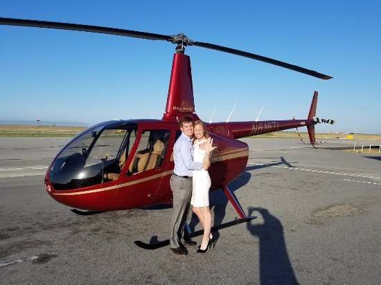 Bay Aerial San Francisco Helicopter Tours: After the ride in front of helicopter