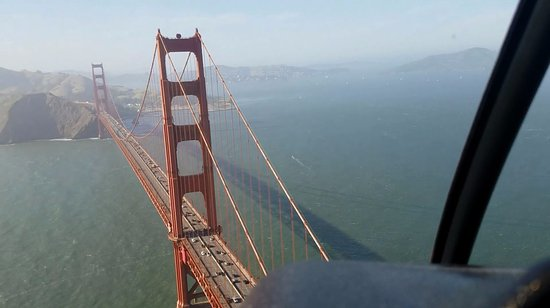 Bay Aerial San Francisco Helicopter Tours: Went under AND over the GG Bridge