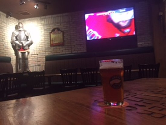 The Thirsty Lion Tavern: One of the big screens