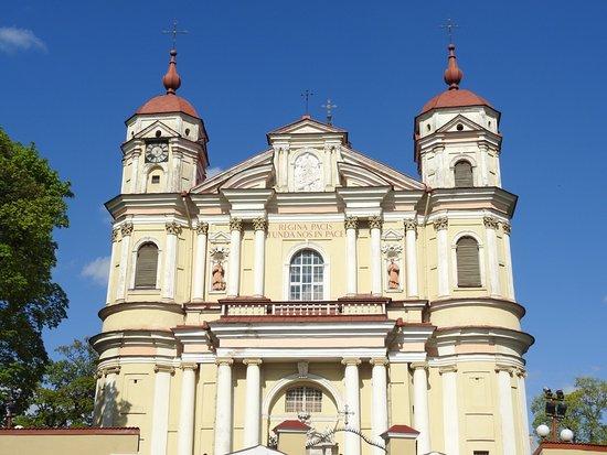 view to church ビリニュス 聖ペテロ パウロ教会の写真 トリップ