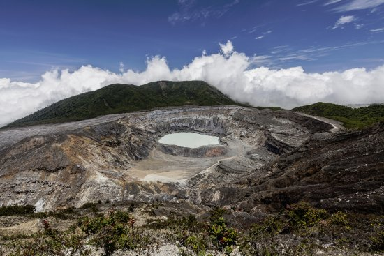 Poas Volcano National Park, Costa Rica: Кратер вулкана Поас