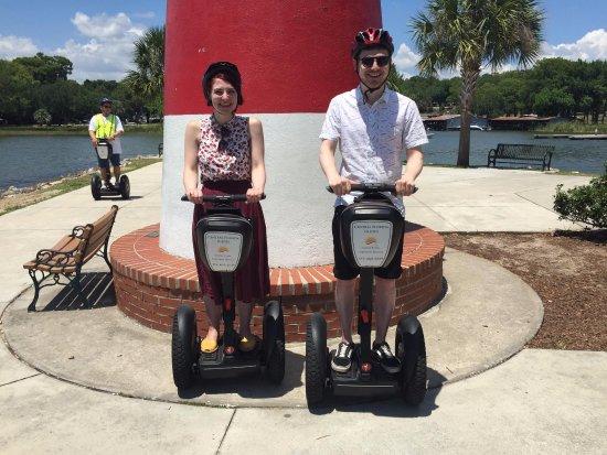 Mount Dora, FL: Us on the Segways!