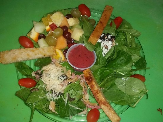 Spring, TX: Salad Trio [with Spinach Salad, Fruit Salad and Italian Pasta Salad]