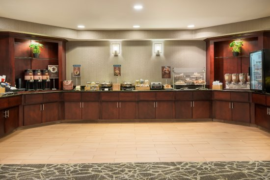 Desk And Kitchen Area Picture Of Springhill Suites Indianapolis
