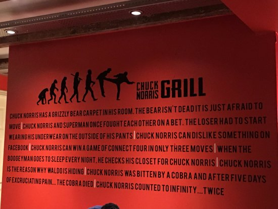 Chuck Norris jokes - Picture of Chuck Norris Grill ...