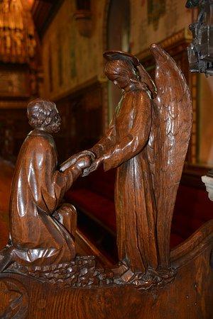 Sandringham, UK : detail carving