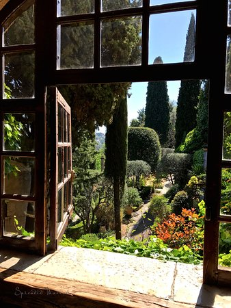 La Colombe D'Or: view from bar window