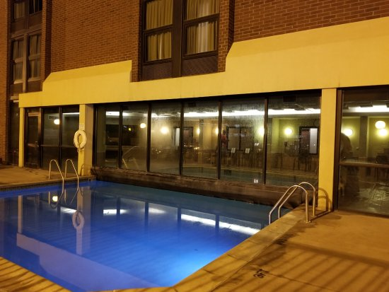 Englewood, CO: Here's the outside half of the pool. Very serene.