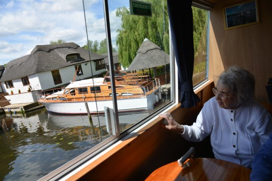 Wroxham, UK: great views from on board deck