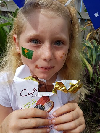 Mission Beach, Australia: Amaya is a young Charley's Chocolate enthusiast!!