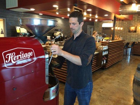 Shasta Lake, CA: freshly roasted coffee