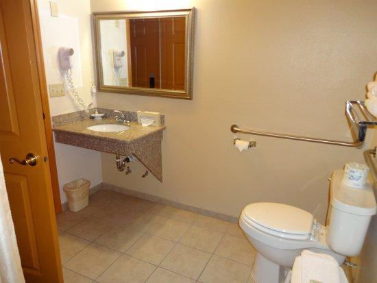 Seasons Motel: Handicap bathroom