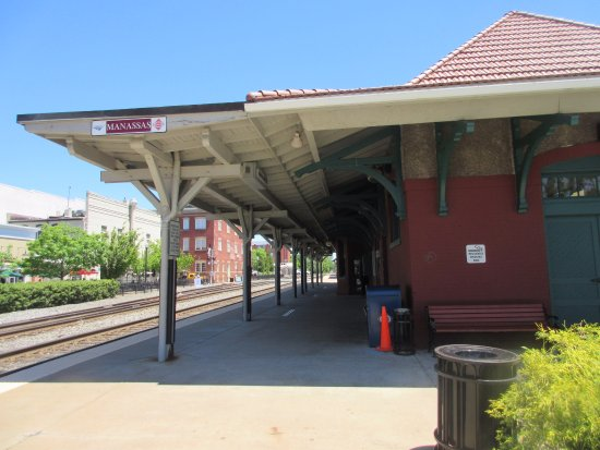 Manassas, VA: The old railroad station is where the Center is located