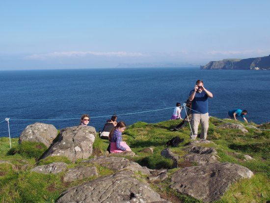 Ballintoy, UK: On Carrick-a-Rede island