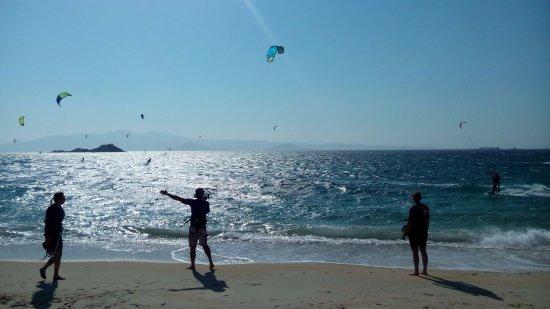 Mikri Vigla, Greece: kite lesson