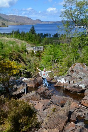 Gairloch, UK: Amazing views from the top of the falls