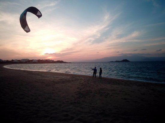 Mikri Vigla, Griekenland: kite lesson