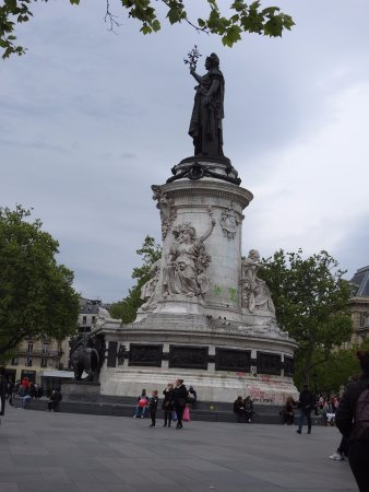 Paris France Hotel: place republique; metro hub 5 mins walk from hotel.