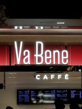 Va Bene Caffe: This is how the sign looks