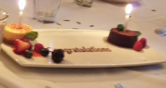 The Capital Grille: Dessert sampler for graduation celebration. Amazing!
