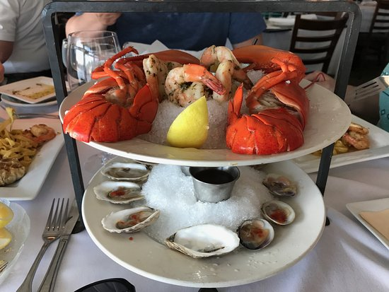 Seafood Tower Picture Of Hurricane Restaurant Kennebunkport
