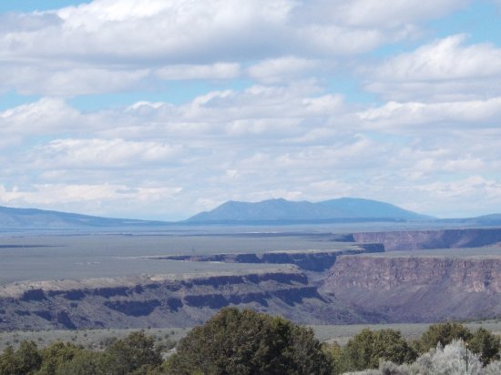 Taos County, NM: Rio Grande Gorge, US 68, South of Taos NM.